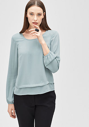 Blouse top with wide pin tuck from s.Oliver