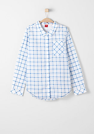 Blouse with a check pattern from s.Oliver