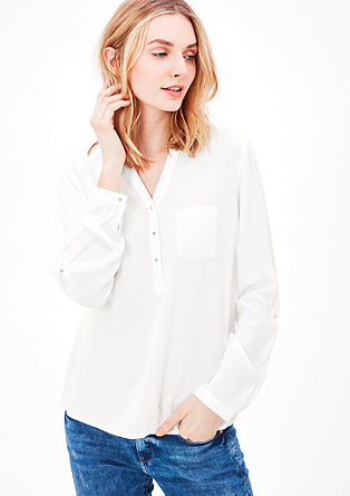 Blouse with a fine textured pattern from s.Oliver