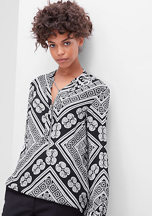 Blouse with a paisley pattern from s.Oliver