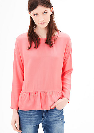 Blouse with a peplum from s.Oliver