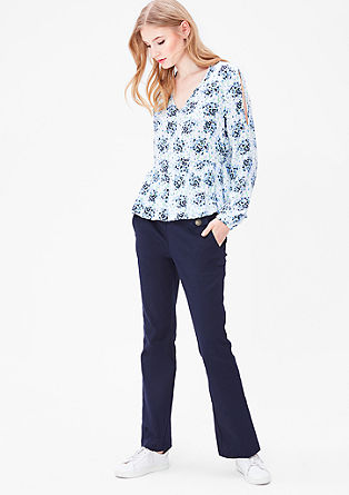 Blouse with an all-over floral pattern from s.Oliver
