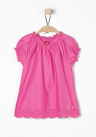Blouse with an openwork floral pattern from s.Oliver