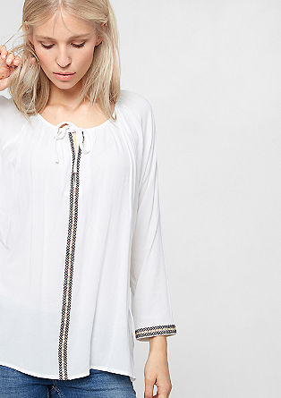Blouse with boho charm from s.Oliver