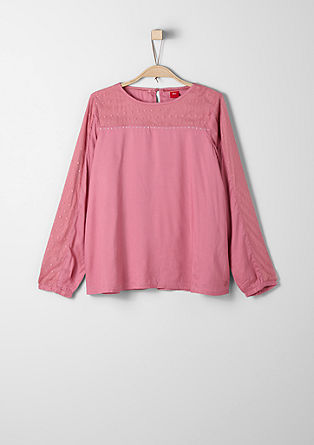 Blouse with mesh inlays from s.Oliver