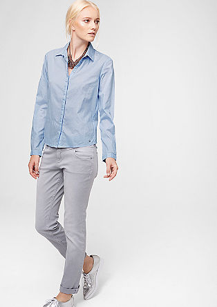 Blouse with polka dot jacquard from s.Oliver