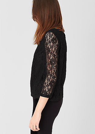 Blouse with sheer sleeves from s.Oliver