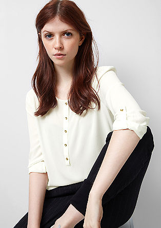 Blouse with turned-up sleeves from s.Oliver