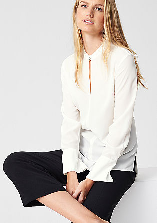 Blouse with wide cuffs from s.Oliver