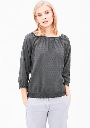 Blouseachtig shirt met een dobby structuur