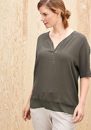 Blouseachtig shirt met laagjeslook