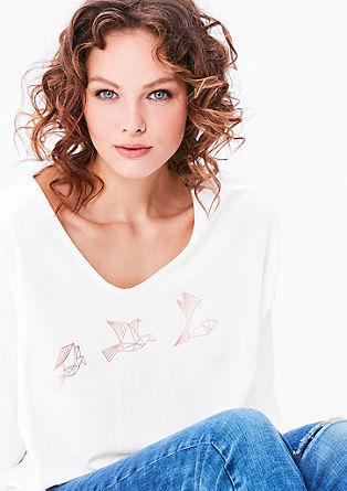 Blouseachtig shirt met metallic print