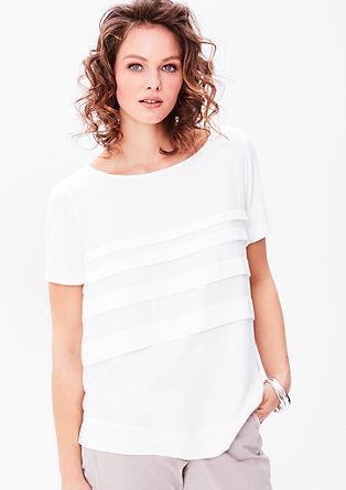 Blouseachtig shirt met volants