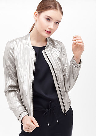 Blouson im Metallic-Look