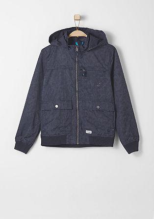 Blouson-Jacke mit Camouflage-Muster