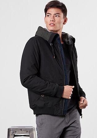 Blouson-Jacke mit Kunstpelz