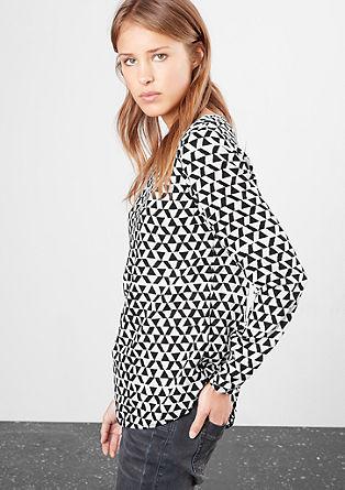 Bluse mit Grafik-Muster