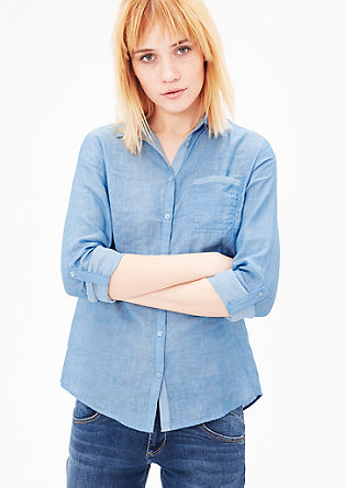 Bluse mit Inside-Out-Details
