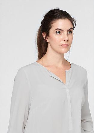 Bluse mit Jersey-Rücken