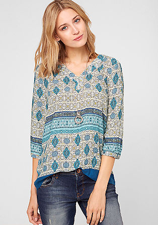 Bluse mit Muster-Print