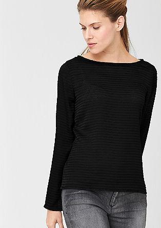 Bluse mit Muster-Struktur