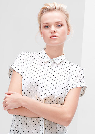 Bluse mit tonigem Muster