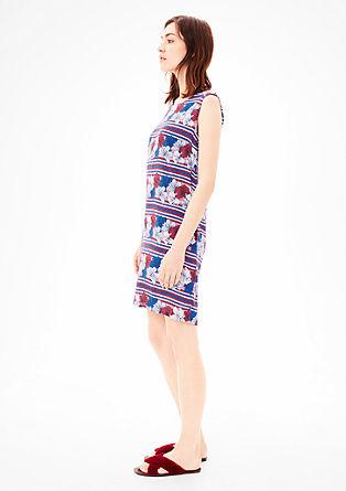 Blusenkleid mit Blumendruck