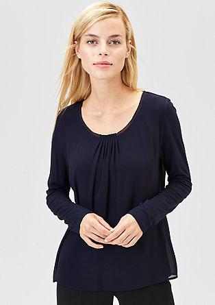 Blusenshirt im Layer-Look