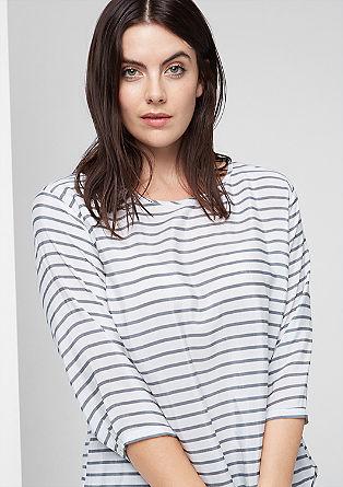 Blusenshirt im Ringel-Look
