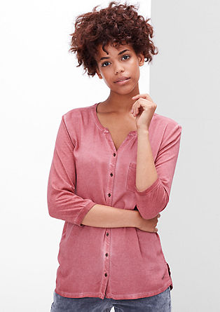 Blusenshirt in Cold Pigment Dye