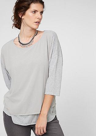 Blusenshirt mit Crêpe-Front