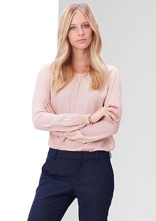 Blusenshirt mit Jacquard-Muster