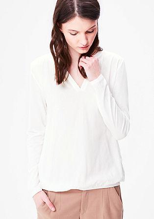 Blusenshirt mit Musterstruktur