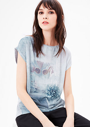 Blusenshirt mit Print-Collage