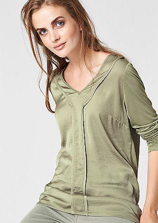 Blusenshirt mit Satin-Front