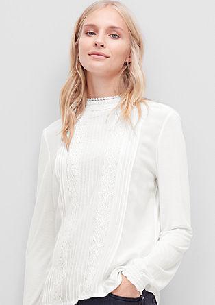 Blusenshirt mit Spitze und Biesen