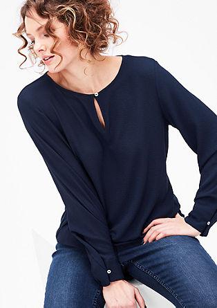 Blusenshirt mit Tropfen-Neckline