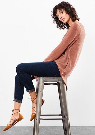 Bluza – spredaj kratka, zadaj dolga, pigmentirana