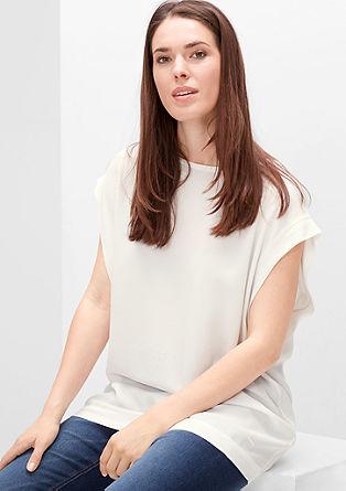 Bluza brez rokavov iz krepa