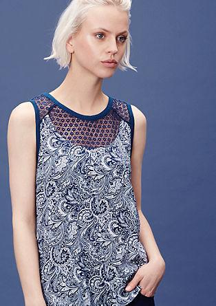 Bluza brez rokavov iz različnih materialov