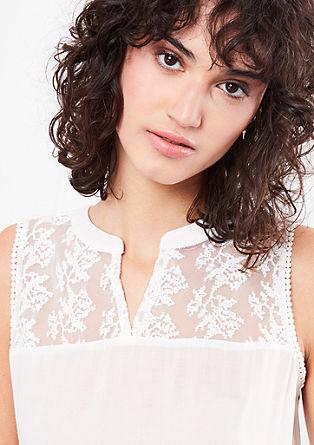 Bluza brez rokavov s čipko