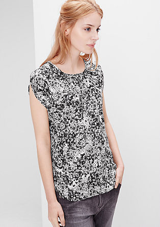 """Bluza brez rokavov s cvetličnim vzorcem """"mille fleurs"""""""