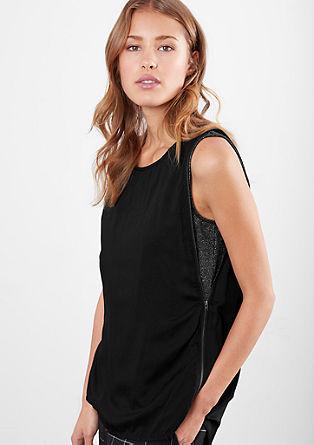 Bluza brez rokavov za h glamuroznemu krilu