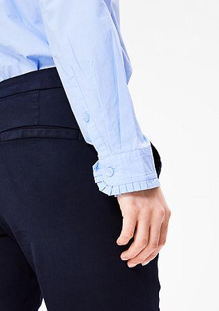 Bluza iz bombaža z naborki