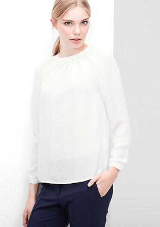 Bluza iz finega krepa z gubami
