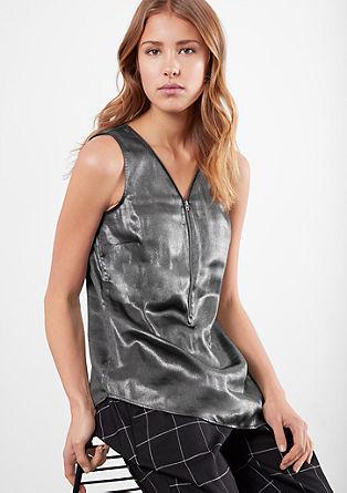 Bluza iz kovinskega satena