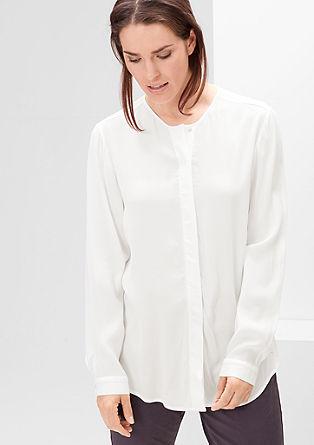 Bluza iz krepa z gumbi