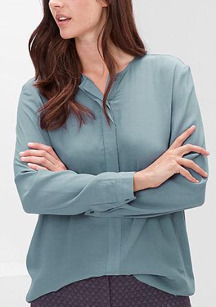 Bluza iz krepa z obrobo na sprednji strani