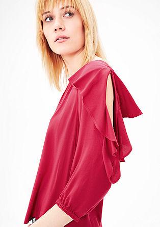 Bluza iz krepa z volani