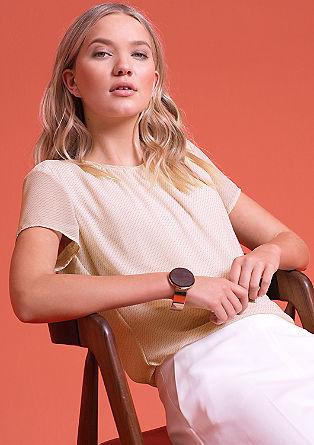 Bluza iz šifona z vzorcem po celotnem oblačilu